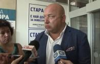 Министърът на младежта и спорта Красен Кралев пред журналисти в Стара Загора