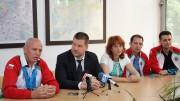 Нова зала и нов волейболен отбор за Стара Загора обеща днес кметът Живко Тодоров