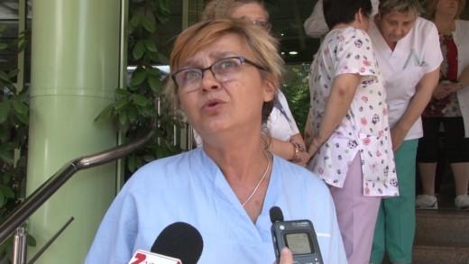 Лекари от болница Тракия в протест срещу агресията