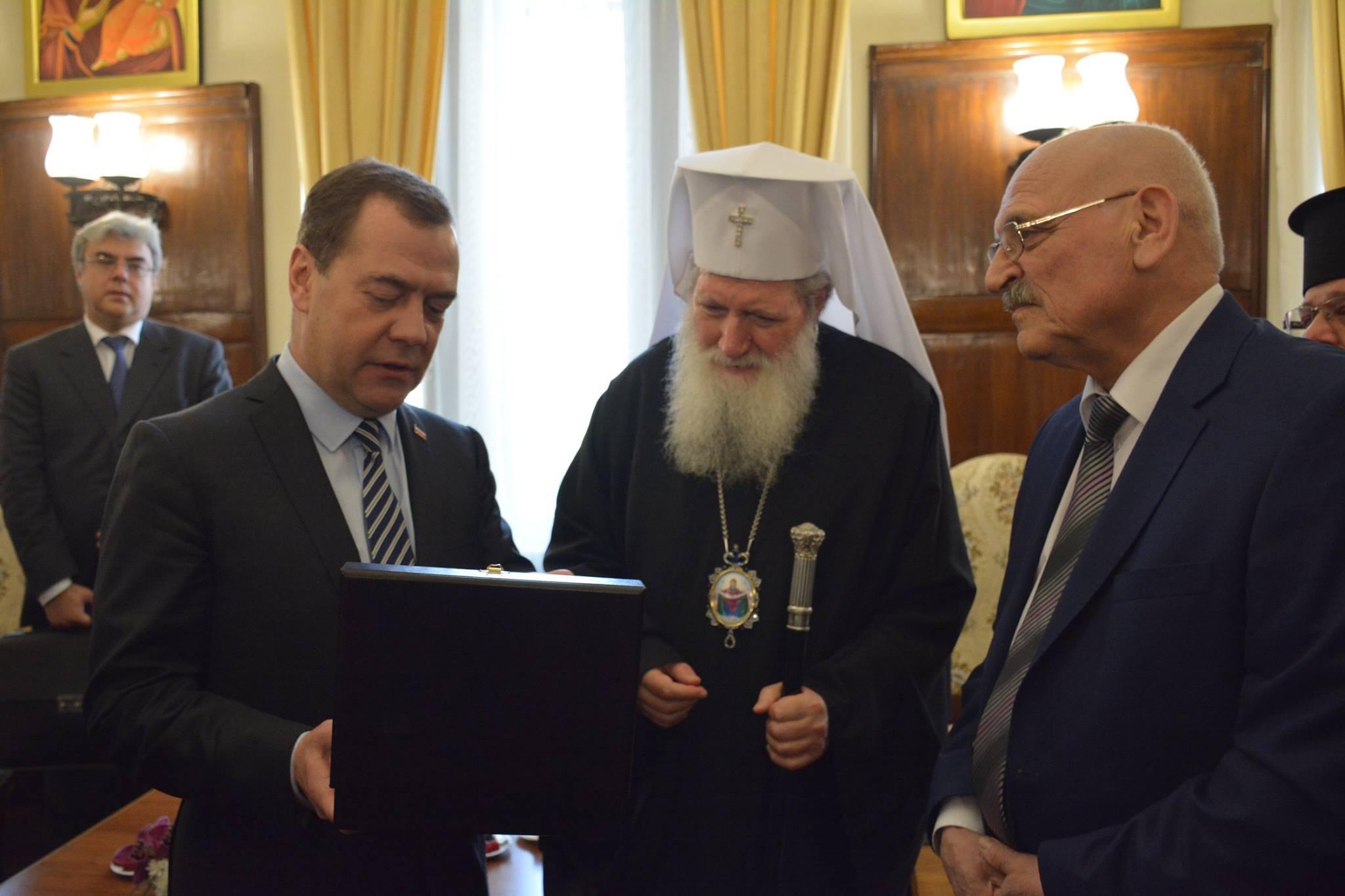 Българското висше духовенство на среща с Дмитрий Медведев