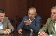 Пресконференция на Живко Тодоров, ресорния зам.-кмет Йордан Николов, инж. Петър Заяков, директор на Регионална дирекция на горите – Стара Загора. Темата е предстояща еко инициатива в града