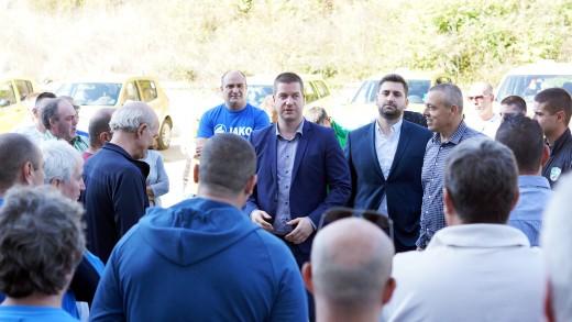 Живко Тодоров, Николай Диков, Йордан Николов и Андрей Новаков - среща с таксиметрови шофьори в Стара Загора