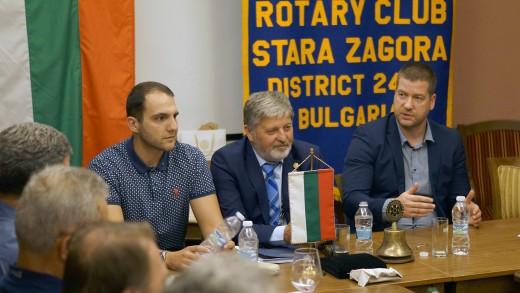 Живко Тодоров - среща с Ротари клуб - Стара Загора