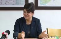Пресконференция на председателя на Общинския съвет Мария Динева. Темата е предстоящата сесия на ОбС