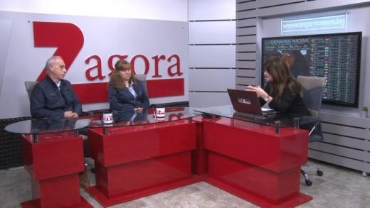 """Ръководителят на PCR лабораторията доц. Светла Ангелова и изп. директор на УМБАЛ проф. Йовчо Йовчев в """"Сутрин с нас"""""""