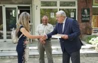 Народните представители Спас Гърневски и Лиляна Друмева почетоха в Казанлък паметта на горяните
