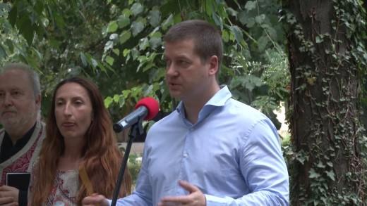 """Първа копка за стартиране на проект """"Паркоустрояване, благоустрояване и подобряване на физическата среда на """"Станционна градина"""" в Стара Загора"""" – 21.07.2020 г."""