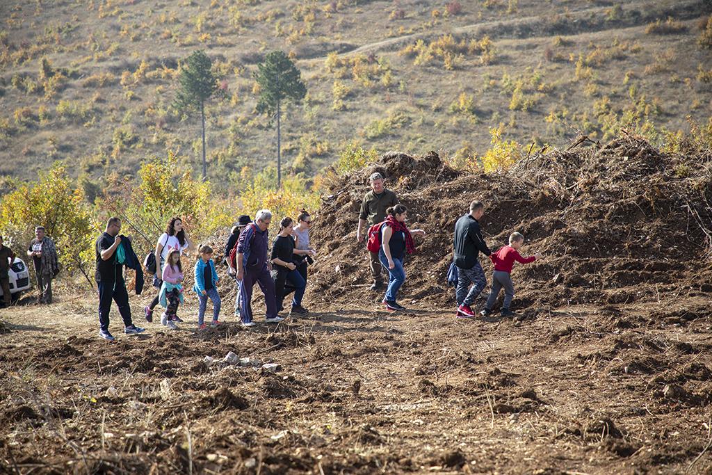 """10 000 фиданки от цер ще бъдат залесени в местността """"Магарешка поляна"""""""