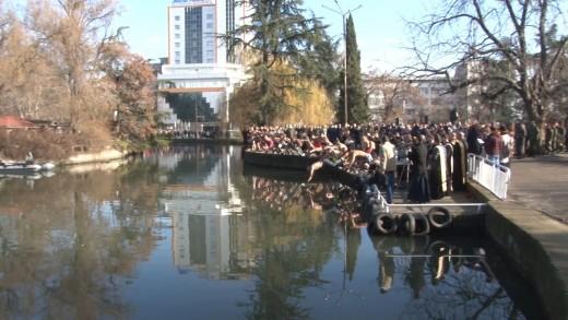 Освещаване бойните знамена на формированията от гарнизон Стара Загора и ритуал по хвърляне на Богоявленския кръст