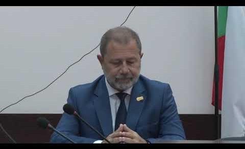 Пресконференция на Областния управител Иван Чолаков и председателя на НСИ Сергей Цветарски