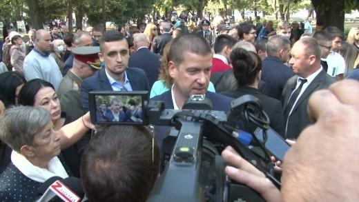 Кметът Живко Тодоров пред журналисти в Стара Загора