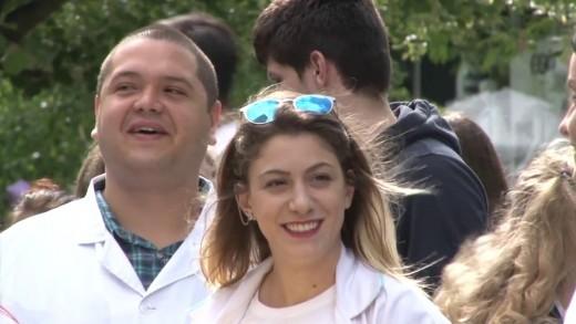 Протест на студентите в Стара Загора