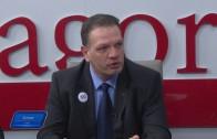 Петър Славов и Мартин Бойчев от Нова Република в предизборно студио – ТВ Загора