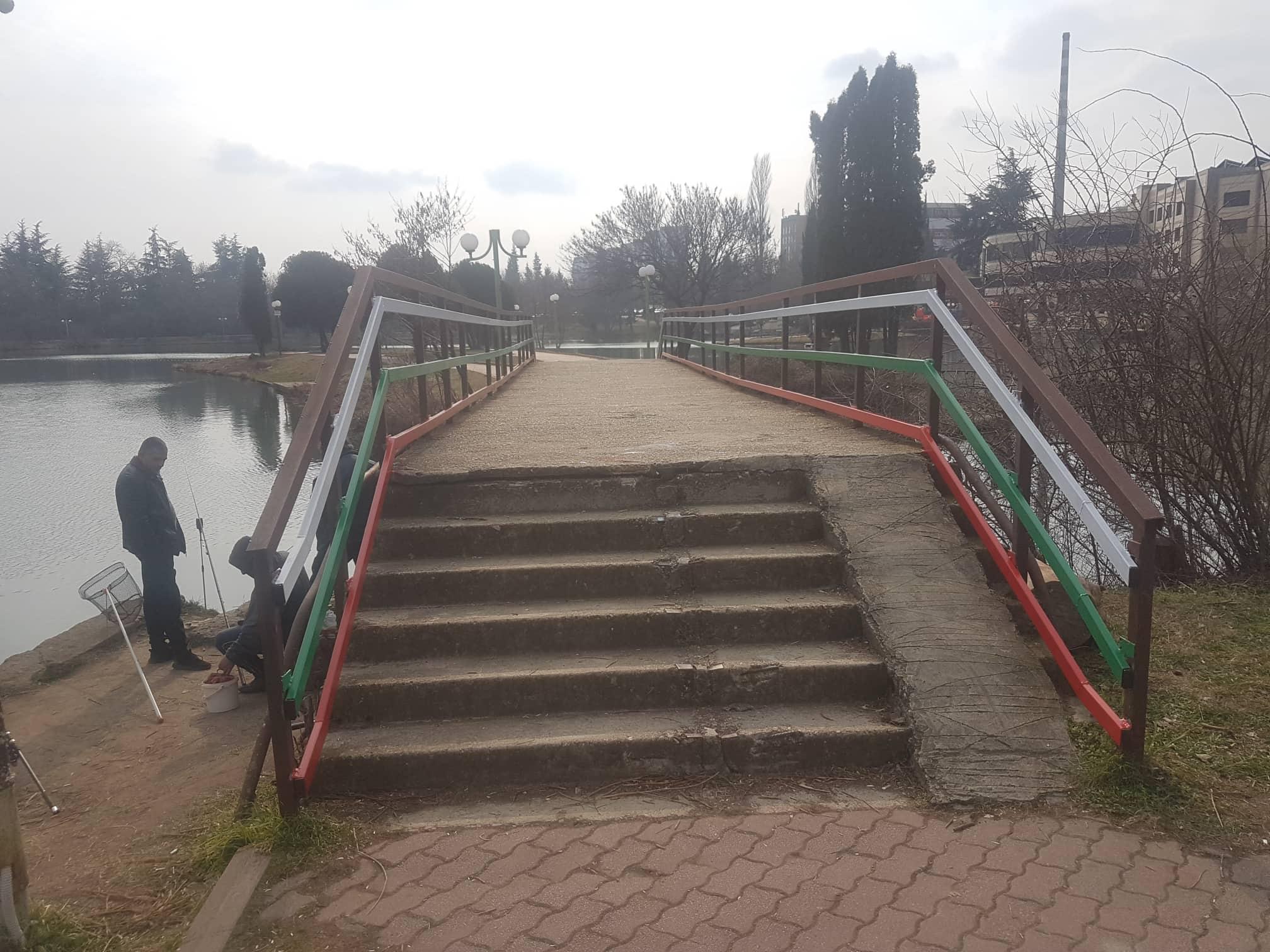 """Възстановен е парапетът на  моста на езеро """"Загорка"""""""