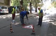 Продължава полагането на иновативни термопластични знаци на възлови кръстовища в Стара Загора