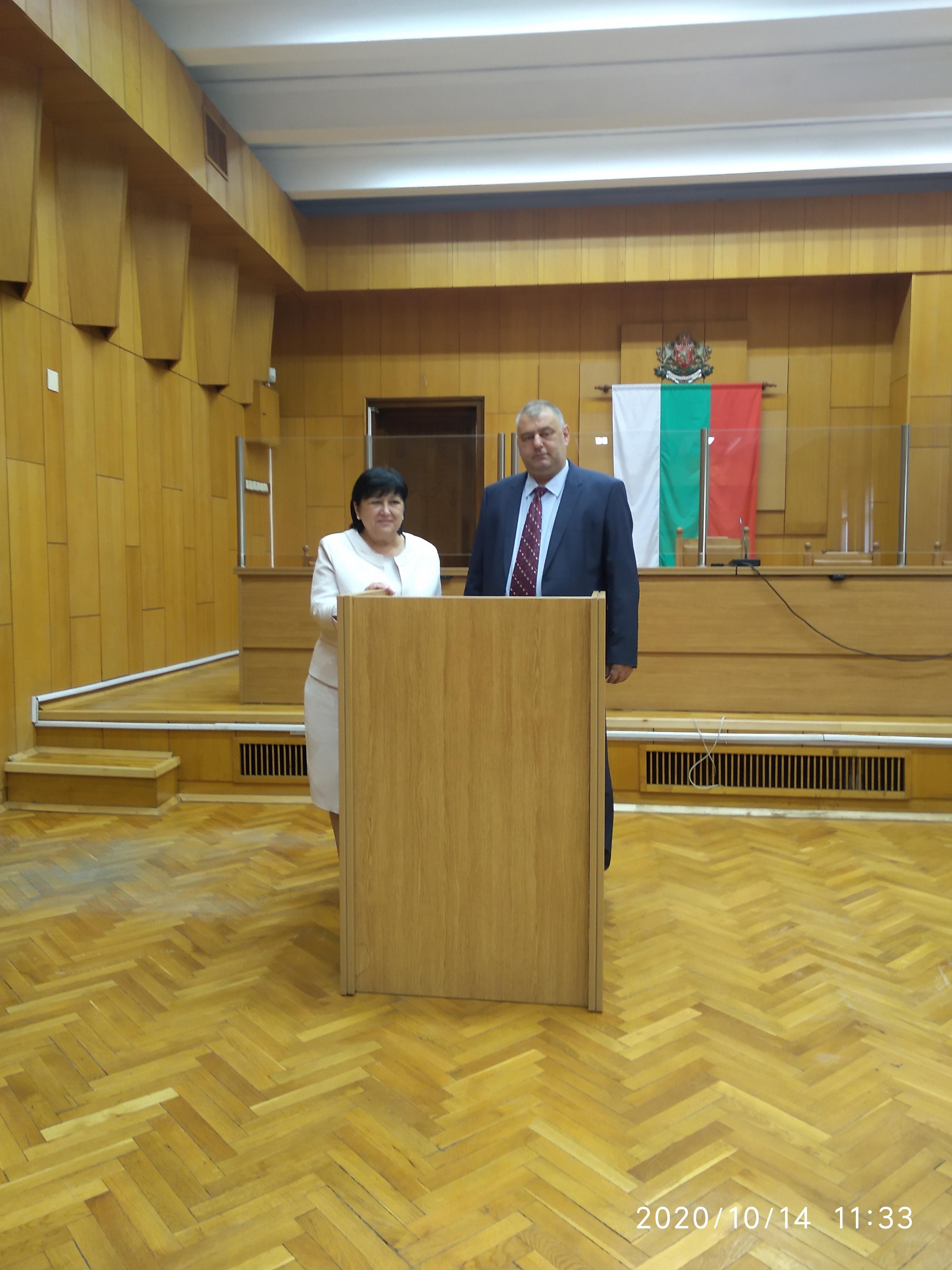 Преизбраният председател на Окръжен съд – Стара Загора официално встъпи в длъжност