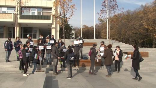 Протест на дребния бизнес в Стара Загора срещу повторен локдаун