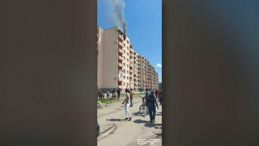 Цяло семейство от Казанлък е било спасено от пожар днес