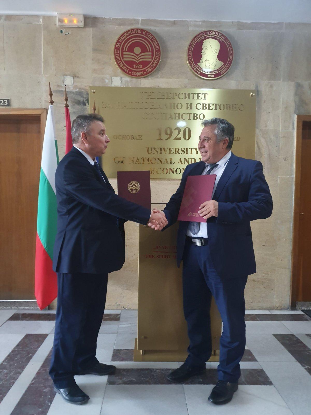 Ректорите на ТрУ и УНСС подписаха споразумение за сътрудничество