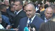Президентът Румен Радев пред журналисти в Стара Загора