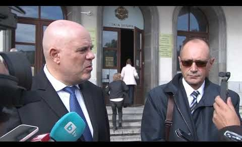 Главният прокурор Иван Гешев пред журналисти в Стара Загора